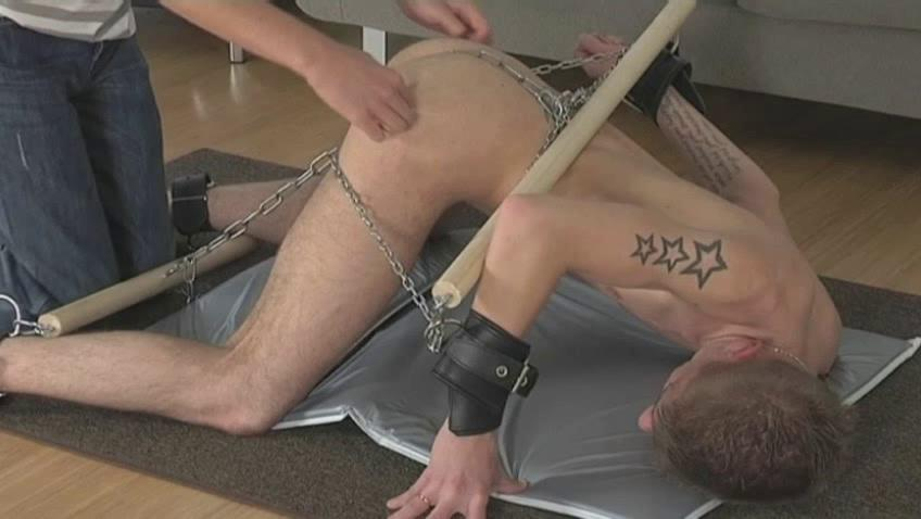 Tattooed ambit delighted gets many times part of his body chained