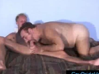 Blonde twink getting his dick sucked hard by old gay bear hard by gaypridevault