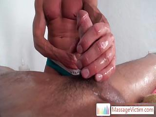 Seth Roberts getting his dick oiled and fucked with fleshlight By Massagevictim