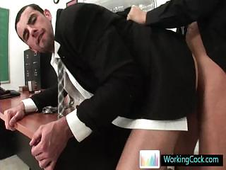 Jake doing a deeptroath and does some ass fucking wide of Workingcock