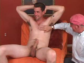 Old gay dude never thought he'd get so lucky painless to have a whit of young cock again