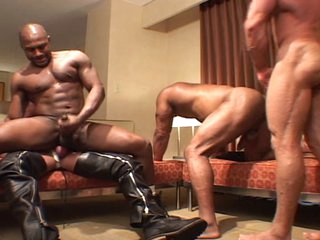 Unsightly men - black & white gangbang