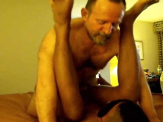 2 BIG hairy aged DAD's use BLACK blindfolded boy TWINK