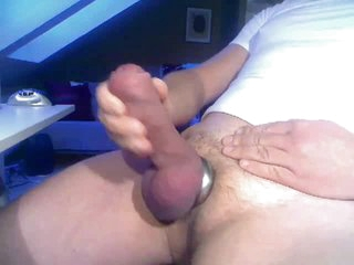 On target Chubby Cock with Cum