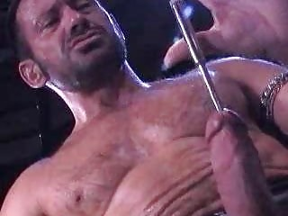 Hairy Dilf Punishing His Penis Inserting Objects