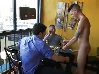 Bdsm gay fuck by fix it of patrons in reastaurant