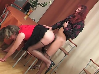 Sex-crazy gay sissies savoring every minute of frenzied fucking on...