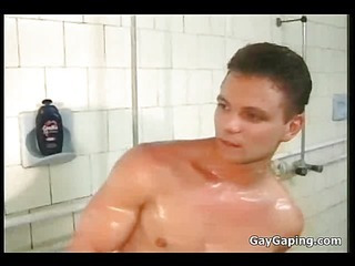 Lucky young gay drag inflate two dicks with an increment of gets facialized