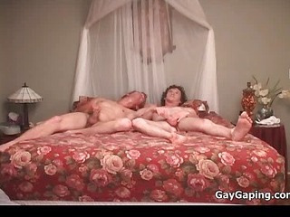 Three gays suck dicks and fuck butts