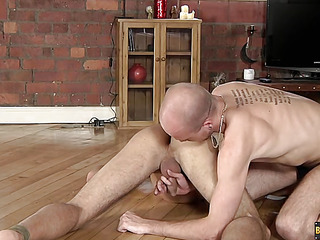 Lucas Davidson gets anally ill-treated and stewed to the gills in! - Lucas Davidson And Kiron Manly