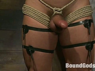 Marc Dylan is bound, beaten and fucked for transmitted to first age on Bound God