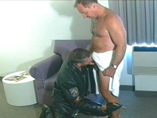 Hot daddy sucks with an increment of fucks biker stud