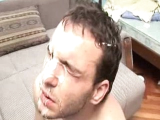 Bizarre stroking cum facial Well-chosen