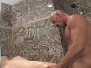 Two Erotic boys dildoing and making love