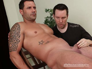 Muscular straight dude submits to his gay friend's fantasies