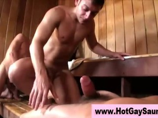 Bunch of gays in the sauna getting nailed fitted hardcore
