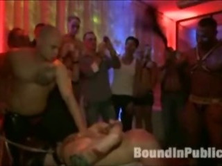 Guy gets gangfucked in gay nightclub