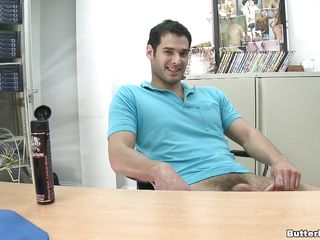 A guy is riding another guy's cock, then gets fucked essentially the calculator desk in holy man position. He gets essentially his knees plus strokes the other guy's locate making douche throw love juice essentially his face. Seated in his chair, he begins to wank, plus keeps doing douche until he ejaculates.