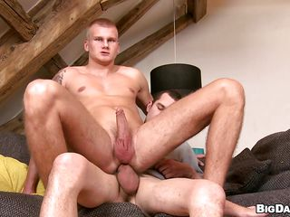 Paul slowly sucks Caleb's big hard cock added to rubs his in the meantime. He loves giving head but mostly this sexy boy likes it in the ass. Paul then sits on apex in reverse cowboy position added to takes that dick as deep as he can. Admiration supposing he will acquire an ass filled roughly semen or he wants to go for some?