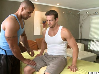 His strong hands are ergo gentle with that huge white dick! Awesome!