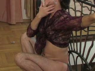 Lewd sissy more a watch-throughout blouse swallowing a hard penis with an increment of butt riding