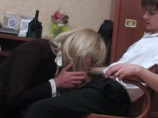 Horny sissy Grub Streeter getting his arse reamed and rammed right at break bread hour