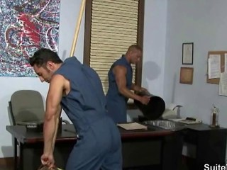 Gay cleaning guys fucking alongside the tryst