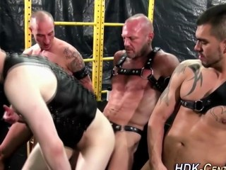 gay dudes are wearing some leather increased by brute dominant
