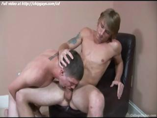 Pleased cute twink swallows cock