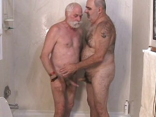 Twosome mature men property off