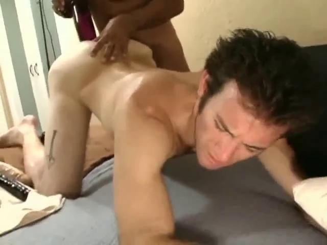 Sensual dark haired gay fella gets a huge dildo up his tight ass hole