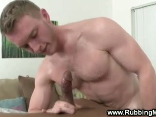 White stud fucked by ebony gay masseuse