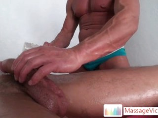 Seth getting his cock massaged with a fleshlight