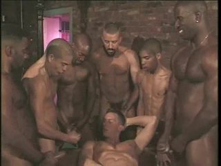 Merry anal gangbang on touching hard body hotties