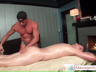 Scottie gets oiled with regard to ass rimming