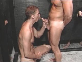 Husky men dick sucking with the addition of anal sex