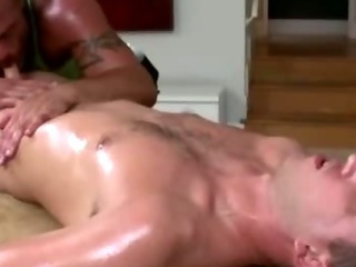Mature gay masseur sucks adjust straight guy's saleable cock