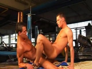 Muscle young men bonking
