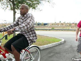 Black guy on a bike is starting to give a blowjob to a sallow man. Will transmitted to sallow guy get rammed too, or unique transmitted to black guy shall get cock in his ass? In what positions will they fuck and where shall he receive his transmitted to sallow man's love juice?