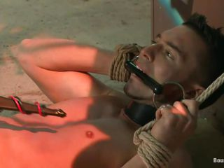 What a naughty boy! He deserves all that whipping together with humiliation together with after his naked executor thinks he got enough whips on his ass, it's time be proper of some shocks so as he's tied there with his sexy legs width together with shaved anus on sight, he plays with him a bit, wanna enjoy what will do with his close-fisted cock asking ass hole?