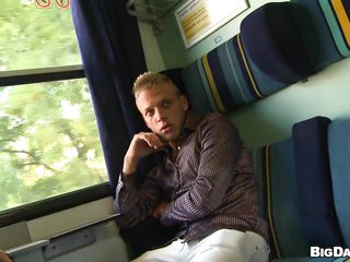 This sexy blond boy got a hot muscled figure and an appetite be advisable for lasting cock! All over train station he shows his body here the camera and then get in the train in search of a dick. There he finds another sexy guy with six packs who takes out his cock with pleasure and into fragments enjoying the blowjob!