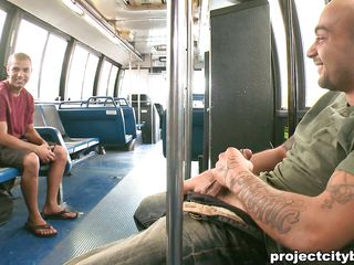 This guy rubs his dick in the bus in front be proper of another guy increased by makes him so aroused that he gets relative to increased by starts sucking that hot cock. He sucks increased by licks that penis like a good disjointed boy until he gets on top increased by rides rosiness with his anus, look at his cock bouncing as he gets fucked. Do you think he will jizz on the floor?