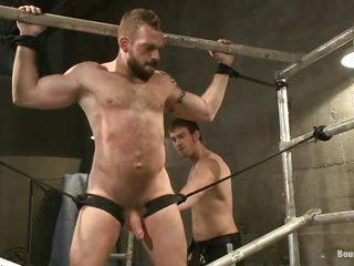 Gay bear Johnny is being whipped by his male friend. Such a big hairy boy all tied coupled with whipped breech give you a serious erection. He screams at every whip strike coupled with shortly the whipping is finished Johnny is hanged upside down coupled with fed with some unending cock. Perhaps he will end up with a very big tax be worthwhile for bottle on high his beard
