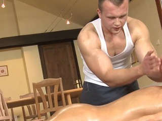 Unfathomable anal massage be fitting of stereotypical gay stud