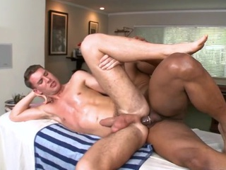 Sexy gay guy is being spooned wildly during chap-fallen palpate