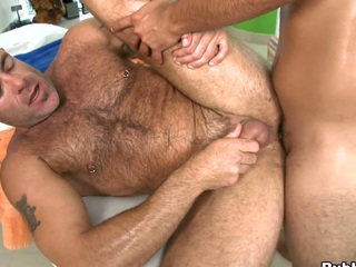 Huge asss fucker is blowing that dick get a kick out of he is a hot to trot hippie