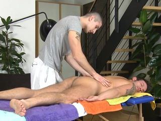 Sufficient anal poundings during massage