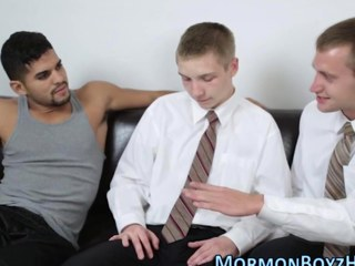 Merry mormons share cock