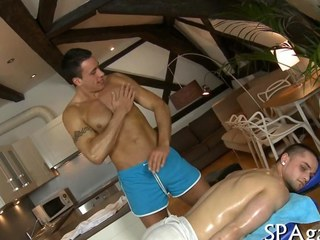 Hot gay dude seduced away from his masseur