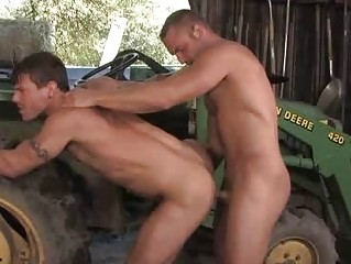 Muscle Cowboy DILF Fucks A Handsome Farmer